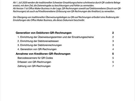 Verwaltung von QR-Rechnungen