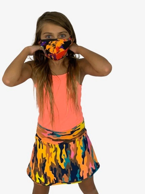 Kids Kit  Skorts + Mask (Camo +Starwas)