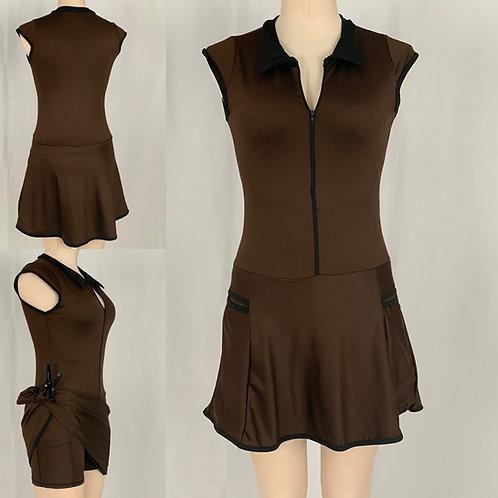 Paula Golf Dress (Brown)
