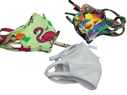 Kids Mask kit ( Flamingo+Flag+White)
