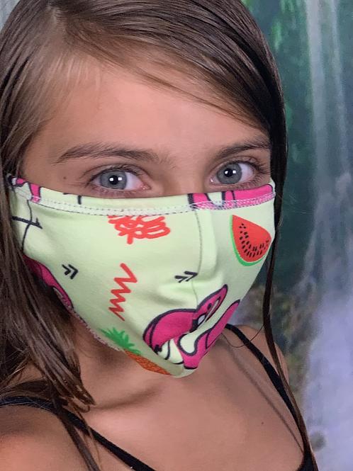Mask (Pink Flamingo/Green)