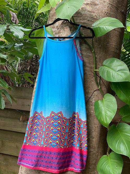 Eliana Dress (Peacock Blue)