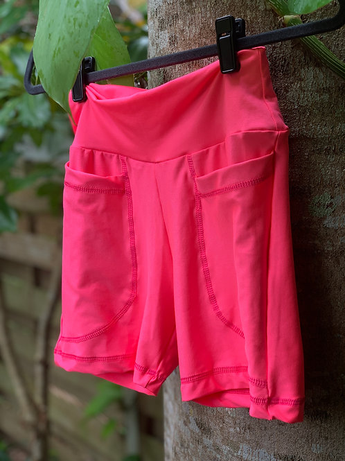 Eva Bikers Shorts (Pink)