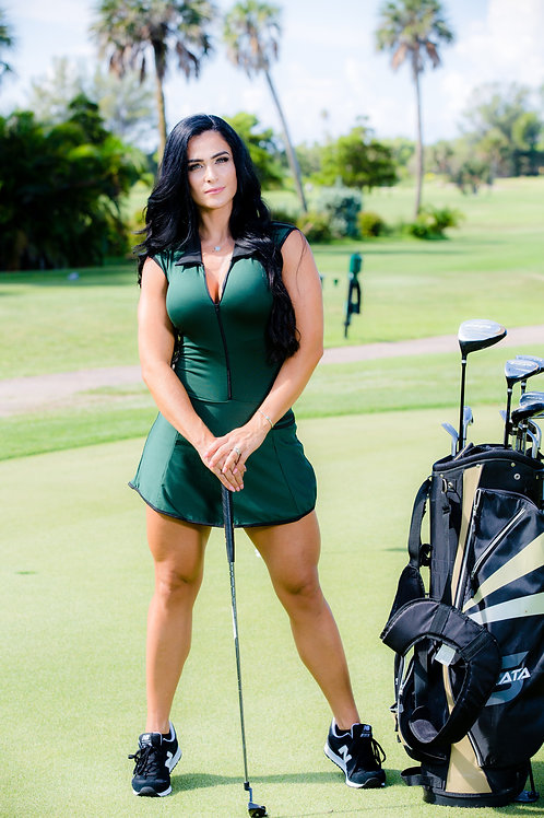 Paula Golf Dress (Green)