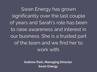 Swan Energy Testimonial