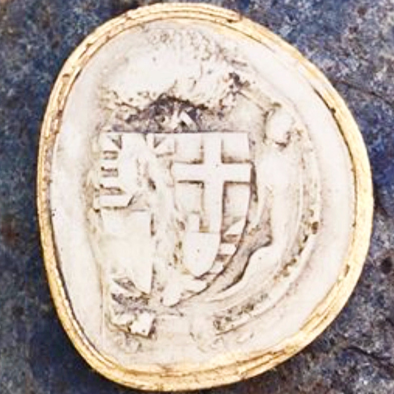 Intaglio with a St Georges cross