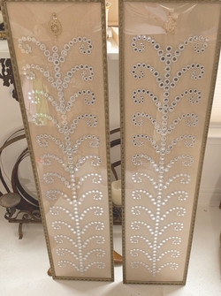 Indian fabric mirrored panels