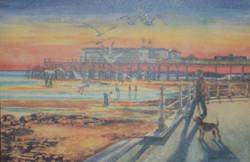 Hastings Pier, before it was burnt down.
