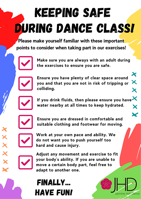 Keep Safe During Dance Class - Mighty Me