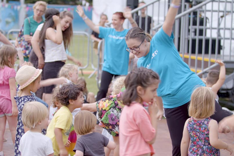 DashDotDance Inclusive Workshop at the Walthamstow Garden Party 2019