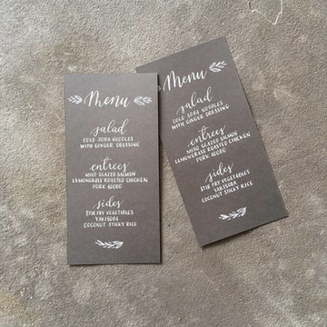FRECKLES + INK // menu calligraphy // hand illustrated // catering menu // slate paper // wedding calligraphy