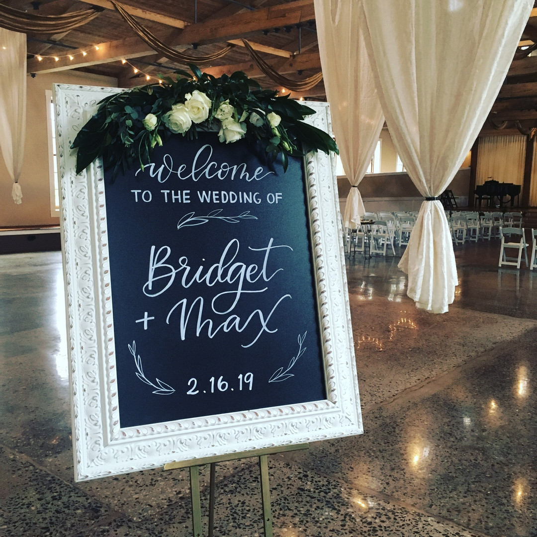 FRECKLES + INK // chalkboard, welcome sign, wedding, hand lettering