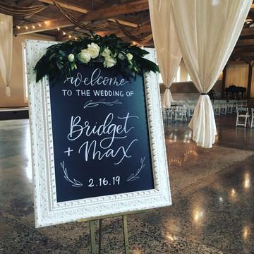 FRECKLES + INK // chalkboard, welcome sign, wedding, hand lettering