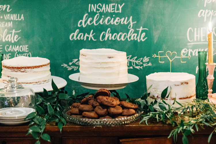 FRECKLES + INK // PHOTO BY:  Ivy Bee Weddings // chalkboard, lettering, how sweet it is, wedding