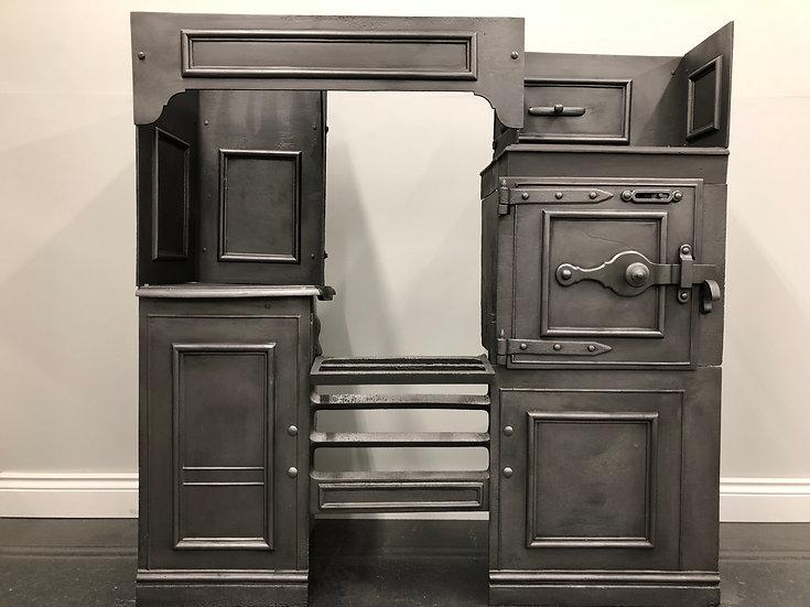 Fully Restored Original Victorian Antique Cast Iron Kitchen Cooking Range