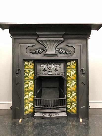 Deposit For Lisa Art Nouveau Tiled Cast Iron Combination Grate