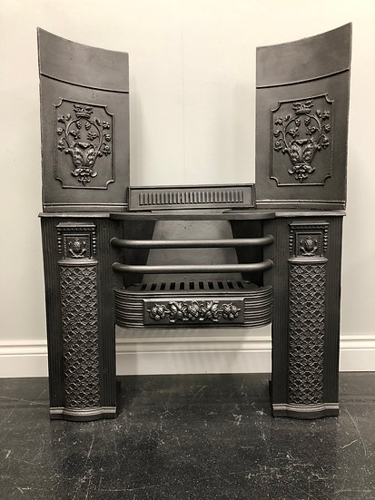 """For Mike Cast Iron 30"""" Hob Grate Fireplace Including Gas Tray and Remote"""