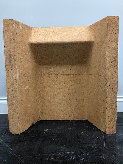 """Brand New 18"""" Clay Replacement Fire Back/Quarry For Solid Fuel Fireplaces"""
