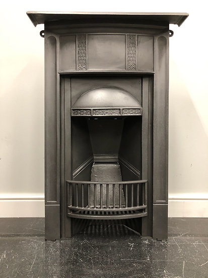 Original Antique Art Deco Bedroom Cast Iron Combination GrateFireplace