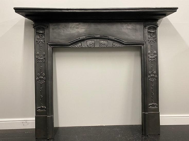 Reproduction Art Nouveau Cast Iron Fireplace Fire Surround
