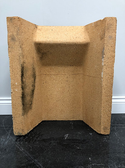 """Brand New 16"""" Clay Replacement Fire Back/Quarry For Solid Fuel Fireplace"""