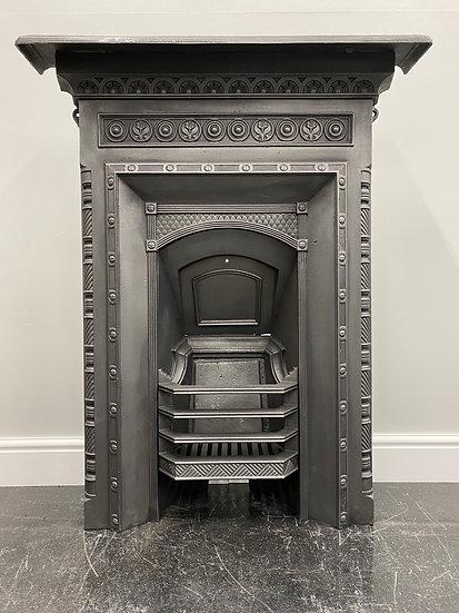 Original Antique Victorian Bedroom Combination Grate Cast Iron Fireplace