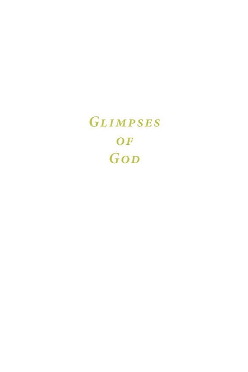 Glimpses of God - pdf format