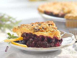 A Gardner blueberry lemon buckle pie
