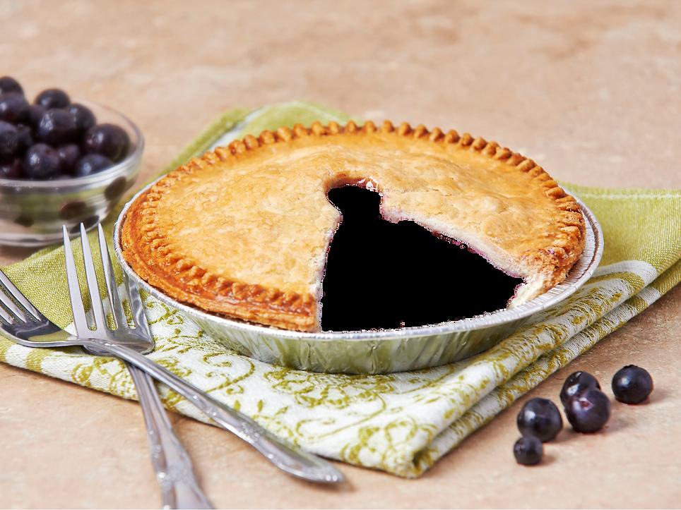 """A 6"""" gardner blueberry pie"""