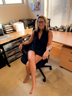 "My Wife in ""My"" Office Chair"