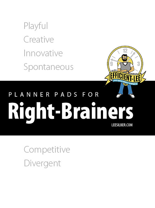 Right Brain Day Planner Pages