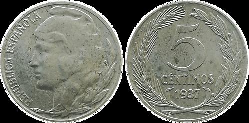 5 CTS. 1937. MBC+ (Cabeza Pequeña)