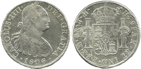 CARLOS IV. 1806_MEJICO, TH. 8 reales. EBC-
