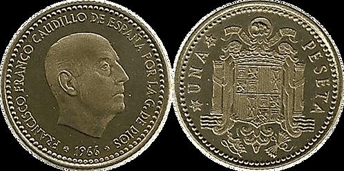 1 PESETA, 1966 (*72). PROOF