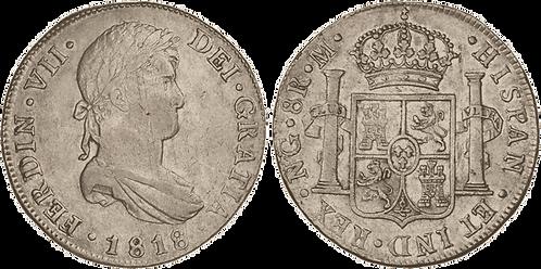 1818_GUATEMALA, M. 8 Reales. MBC+/EBC-