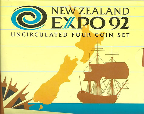 NUEVA ZELANDA, 1992. COIN SET EXPO'92
