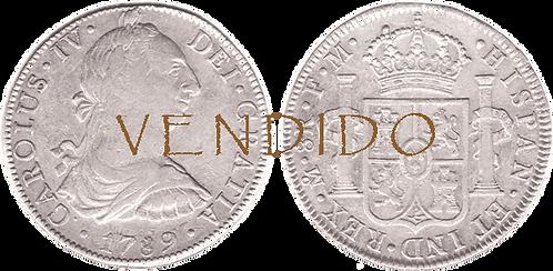 CARLOS IV. 1789_MEJICO, FM. 8 reales. MBC+