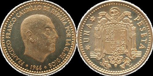 1 PESETA, 1966 (*74). PROOF
