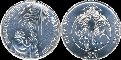 VATICANO, 500 LIRAS, 1994. (SC)