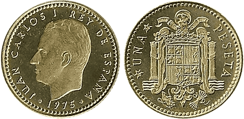 1 PESETA, 1975 (*19, *79). PROOF