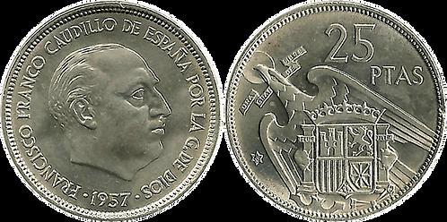 25 PESETAS, 1957 (*68). SC