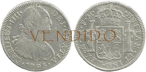 CARLOS IV. 1795_MEJICO, FM. 8 reales. MBC+