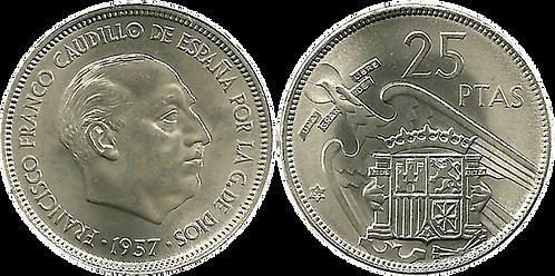 25 PESETAS, 1957 (*66). SC