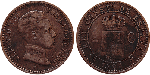 2 CTS. 1904. (*04).  MBC