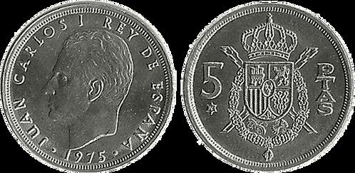 5 PESETAS, 1975 (*76). SC