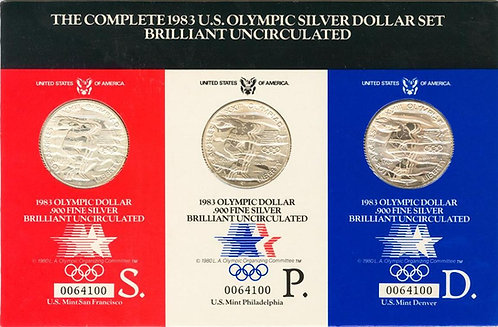 ESTADOS UNIDOS, Estuche oficial de 1 Dollar de 1983