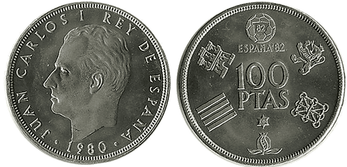 100 PESETAS, 1980 (*80), PROOF