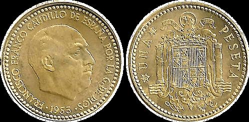 1 PESETA, 1953 (*63). SC