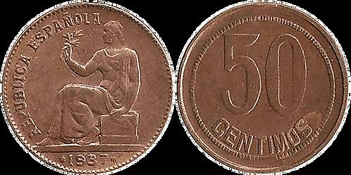 50 CTS. 1937. (*_,*6). MBC+ (Orla Puntos Cuadrados)