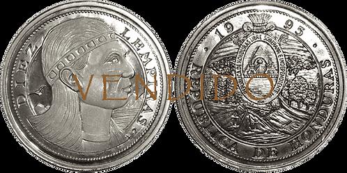 HONDURAS, 10 LEMPIRAS. 1995. (PROOF)